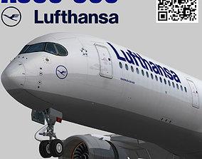 Airbus A350-900 XWB Lufthansa D-AIXA 3D asset