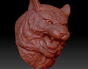 tiger head 3D printable model leo