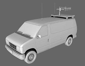 3D model Van TV Radio