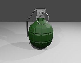 3D model Grenade - Hand - Bomb - Granada - Explosive