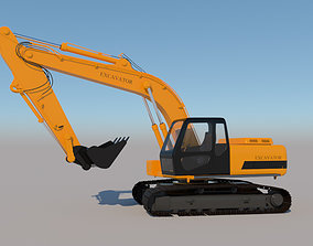 Full Rigged Excavator 3D model