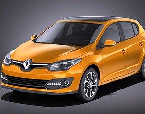 3D Renault Megane 5-door 2016 VRAY