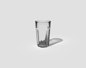 Glass Cup 3D asset realtime