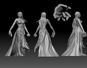 Sorceress witch enchantress character for 3D print model 2