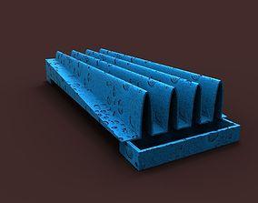 Green dish rack 3D print model