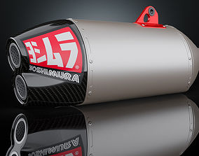 Exhaust motorcycle Yoshimura RS-4D 3D model