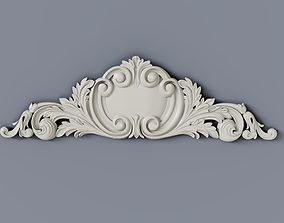 3D printable model Baroque cartouches element 012