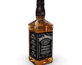 alcohol Jack Daniels 70cl Bottle 3D model