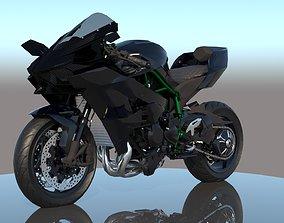 3D model Kawasaki Ninja H2R VRay PBR sports