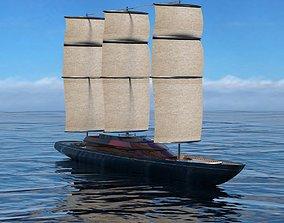 3D model Sail ship