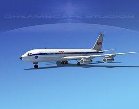 3D model Boeing 707 NASA