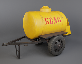 Trailer with kvass 3D asset
