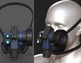 3D asset Gas mask scifi futuristic military combat