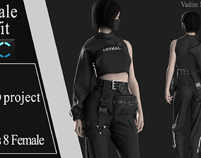 Female Modern Outfit 7 3D