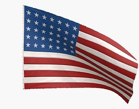 US Flag 35 Stars 1863-1865 3D asset