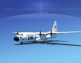 Lockheed C-130 Hercules Unated Nations 3D