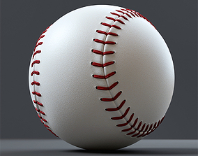 VR / AR ready Baseball ball 3D model