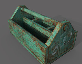 wooden jwellery box 3D asset