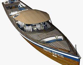 Long Tail Canoe 3D model