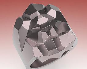 3D printable model Ring Lion Poly