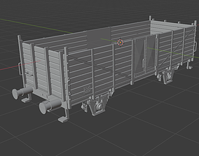 H0 1-87 scale OM 12 freight car 3D printable model