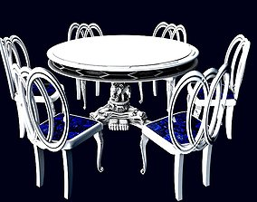 Dining Table set classic 3D model