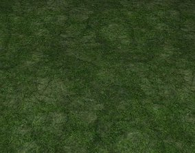 3D model ground grass tile 36