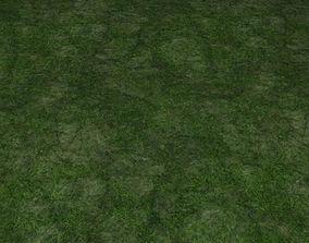 3D model ground grass tile 36