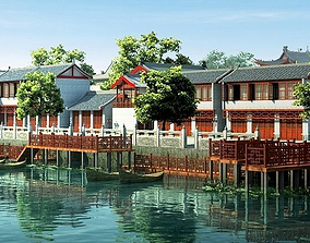 Water commercial street 3D model