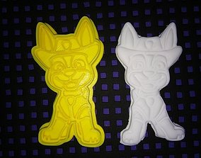 Paw Patrol TRACKER Cookie Cutter 3D printable model