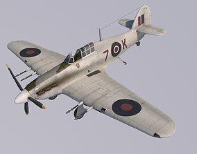 3D Hawker Hurricane MkIIC Carrier version