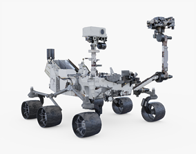 Mars Curiosity Rover Animated 3D asset