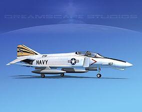 3D model McDonnell Douglas F-4J Phantom II V08 USN