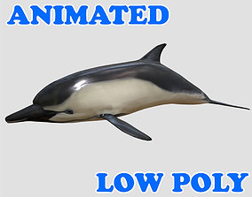 Low poly Dolphin Animated - Game Ready 3D model