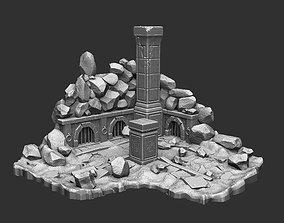 Medieval ruins 3D printable model