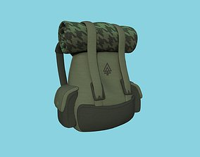 3D model Green Tree Backpack - Character Fashion Design