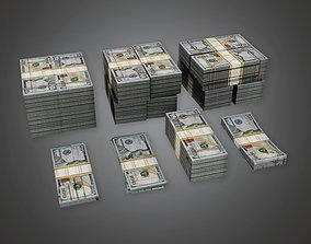 3D asset Cash Money Pile BHE - PBR Game Ready