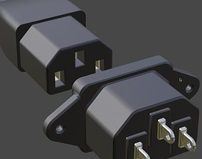 UK Plug and Socket energy 3D model