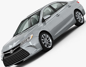 Toyota Camry XLE 2015 detailed interior 3D