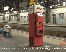 Coca Cola Old Middle Vending Machine 3D model 1