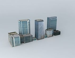 3D model Herons Quays, Canary Wharf, London