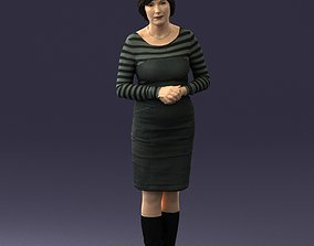 Girl tunic and boots 0508 3D Print Ready