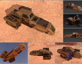 Sci-fi desert speeder 3D model