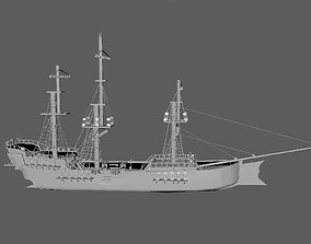 3D model Pirate Ship phase-1