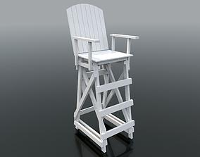 Lifeguard Chair swimming 3D model
