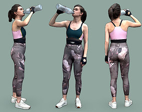 Stylized Fitness Character 3D