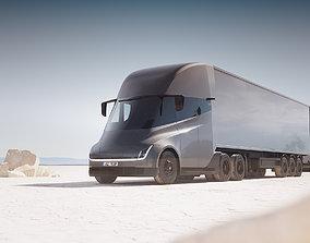 3D model Electric semi-truck unbranded