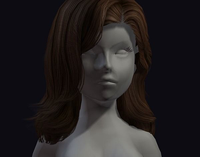 beauty hair 3D asset