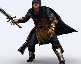 3D model animated Fantasy Thief