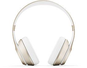 3D model Golden headphones